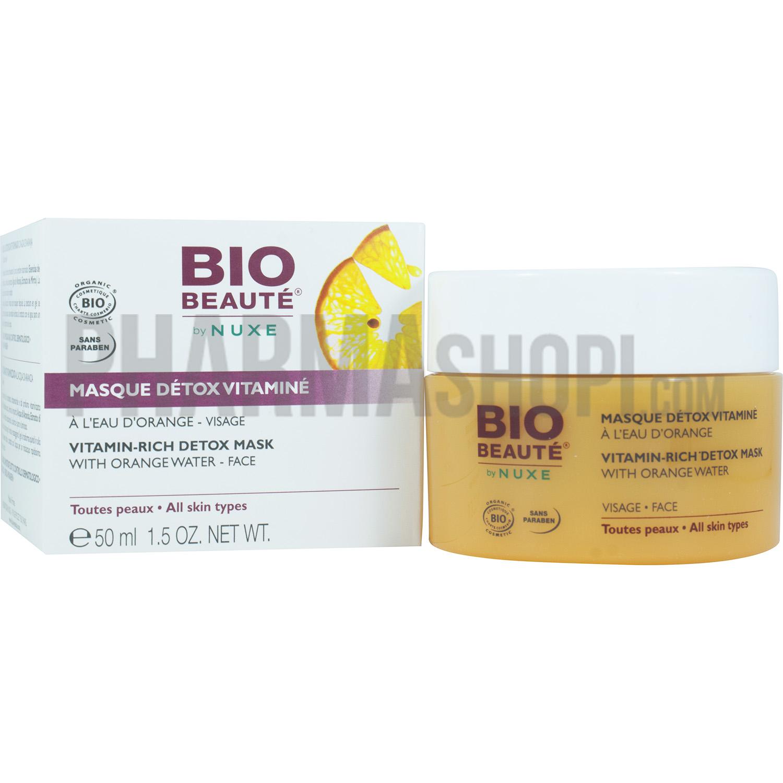 Masque détox vitaminé à l eau d orange Bio Beauté - pot de