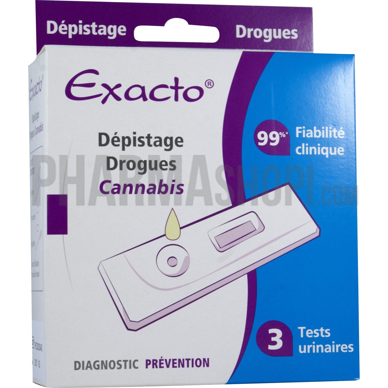 exacto d pistage drogues cannabis bo te de 3 tests urinaires. Black Bedroom Furniture Sets. Home Design Ideas