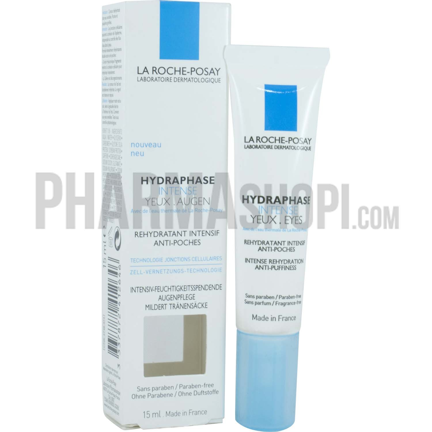 la roche posay hydraphase intense yeux r hydratant intensif anti poches la roche posay tube. Black Bedroom Furniture Sets. Home Design Ideas