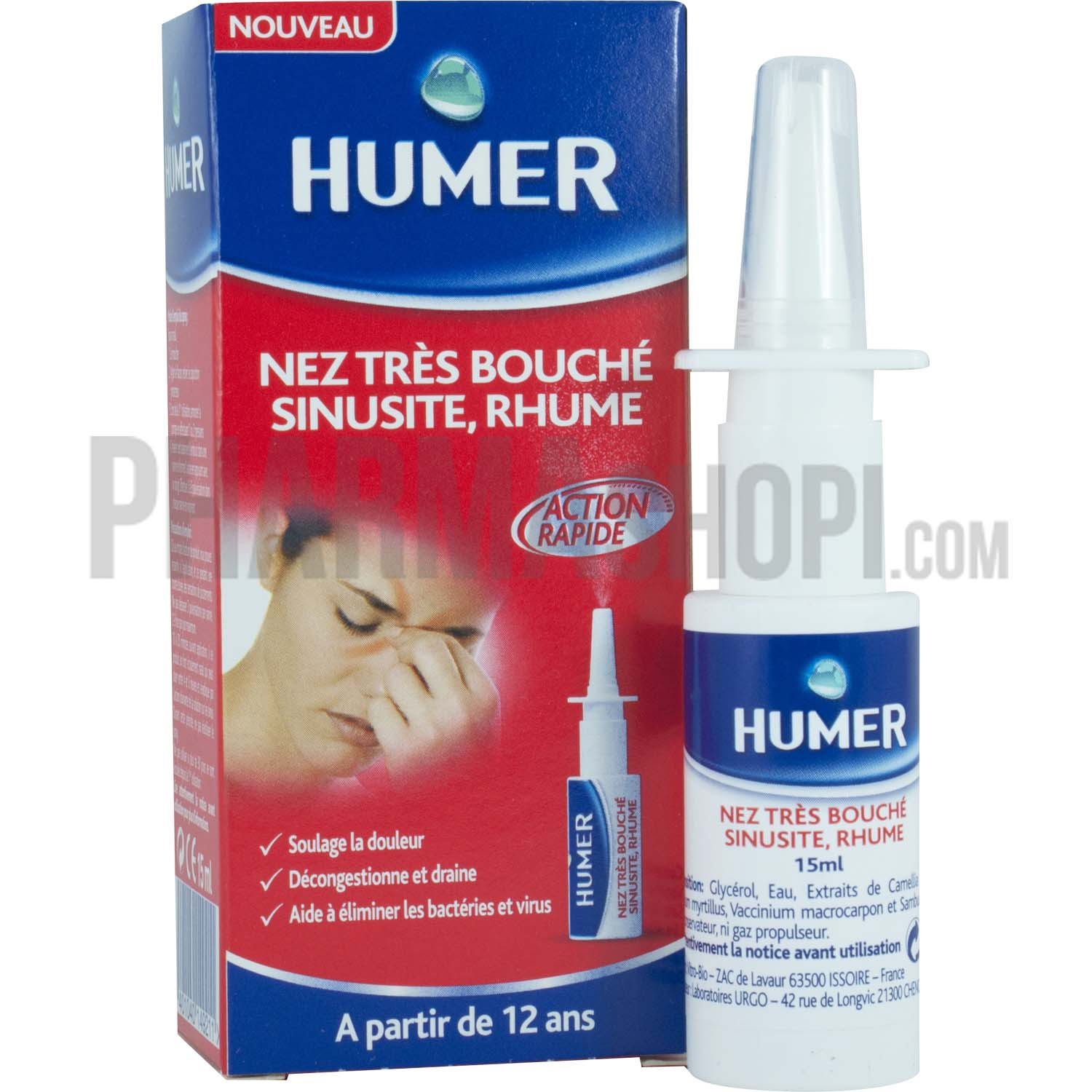 humer nez tr s bouch sinusite rhume spray de 15 ml. Black Bedroom Furniture Sets. Home Design Ideas