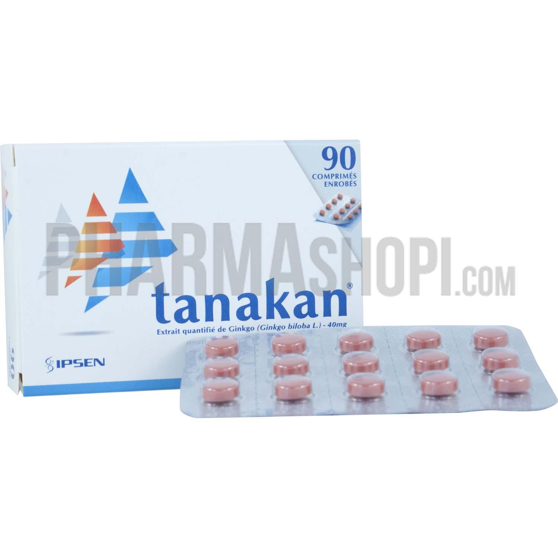 Tanakan 40mg comprimé enrobé, boîte de 90 comprimés