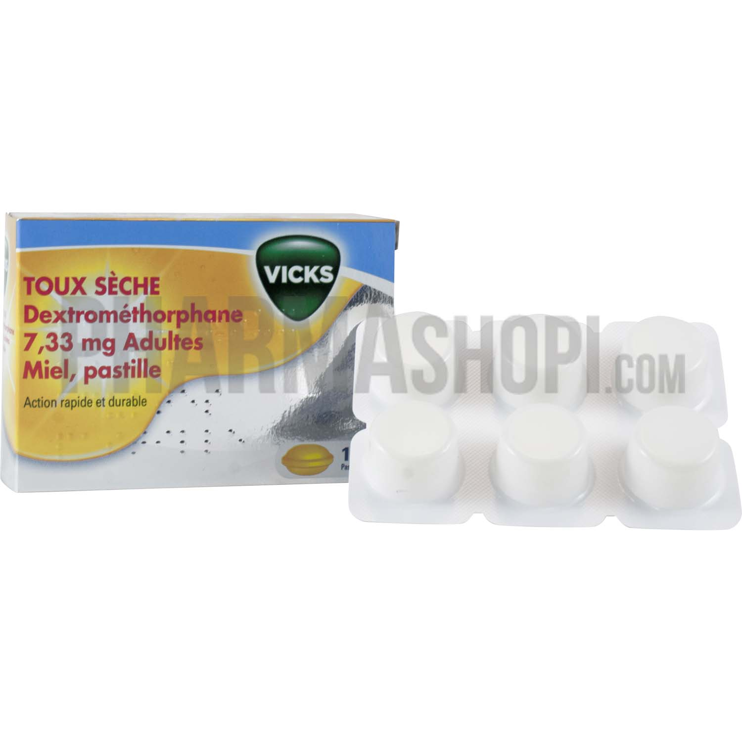 vicks toux s che adultes miel pastille boite de 12 pastilles. Black Bedroom Furniture Sets. Home Design Ideas