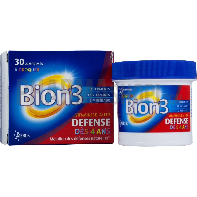 Bion3 Junior Defense Des 4 Ans Boite De 30 Comprimes A Croquer