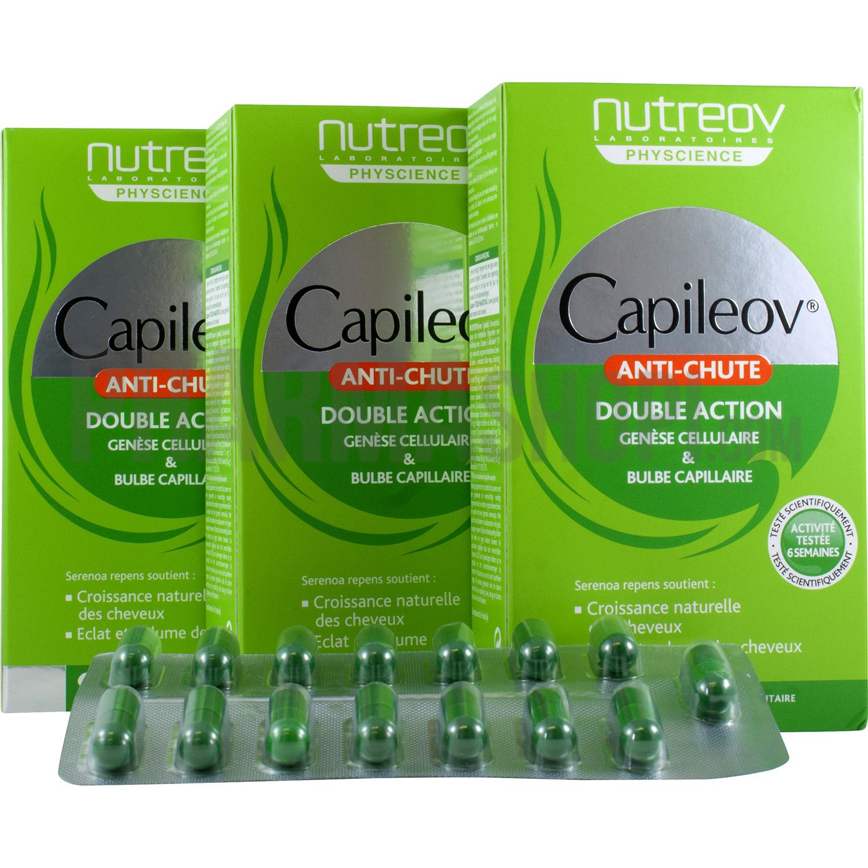 capileov anti chute double action nutreov lot de 3 boites de 30 g lules. Black Bedroom Furniture Sets. Home Design Ideas