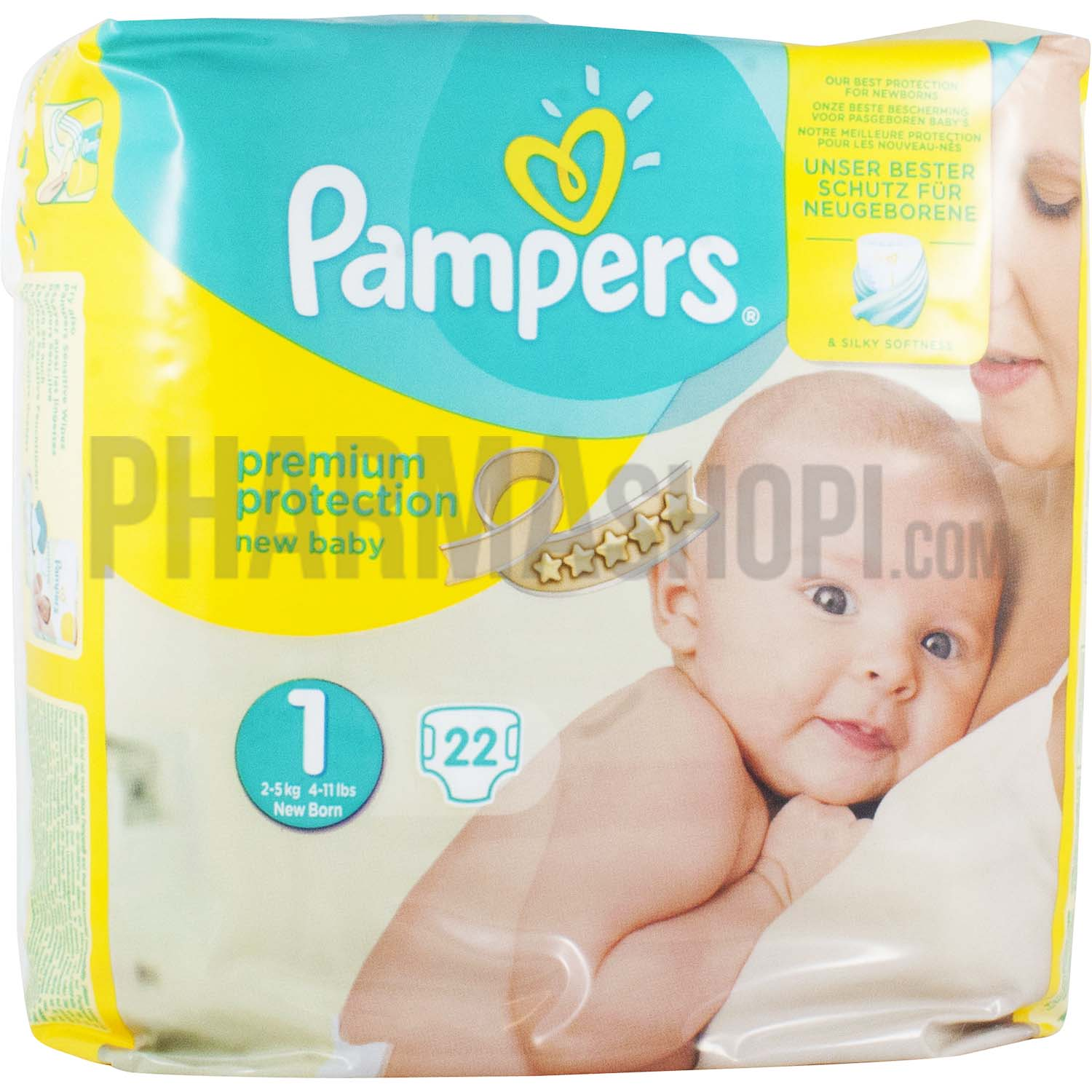 Couche pampers premium protection taille 1 22 couches for Pampers couche piscine