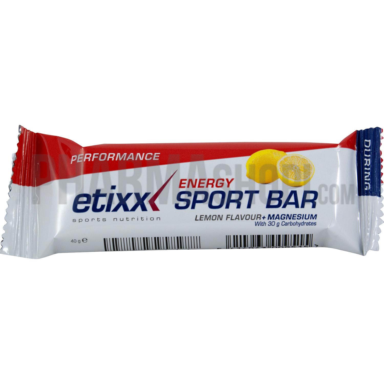 Energy sport bar citron Etixx, barre de 40 g