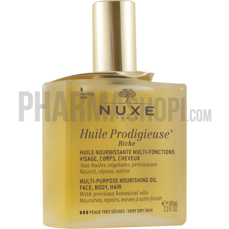 huile prodigieuse nuxe cheveux secs