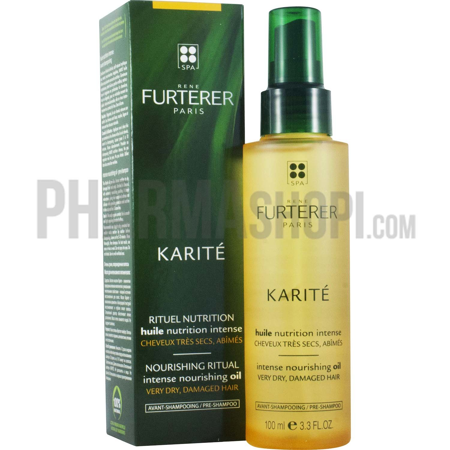 karit rituel nutrition huile nutrition intense ren furterer flacon de 100 ml. Black Bedroom Furniture Sets. Home Design Ideas