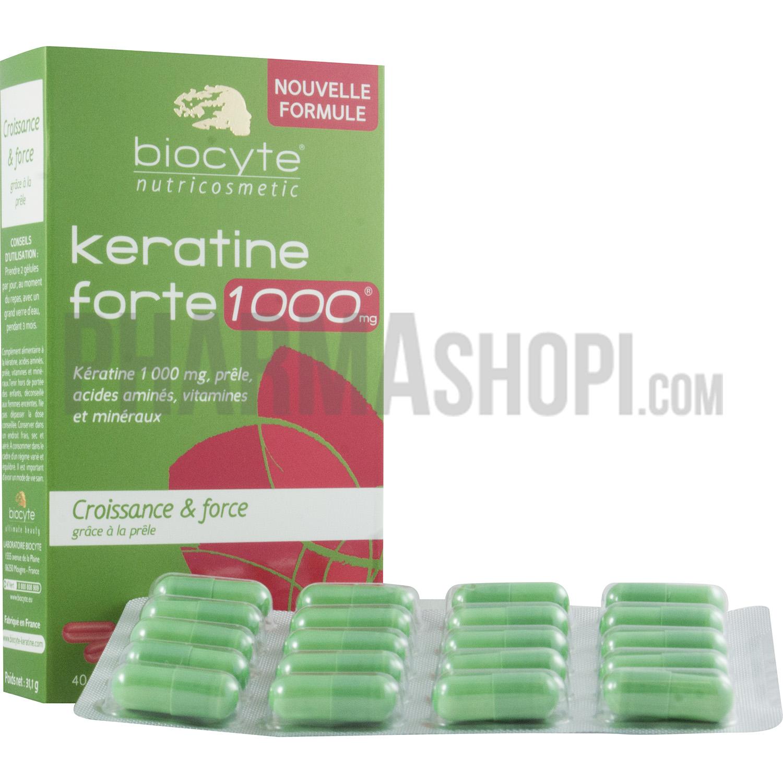 Biocyte Kératine forte 1000 mg Biocyte - 40 gélules