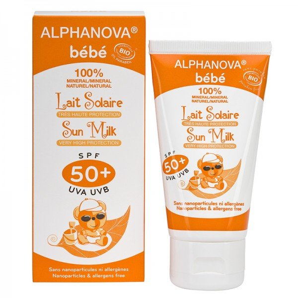 alphanova lait solaire solaire tr s haute protection spf 50 bio alphanova b b tube de 50 g. Black Bedroom Furniture Sets. Home Design Ideas