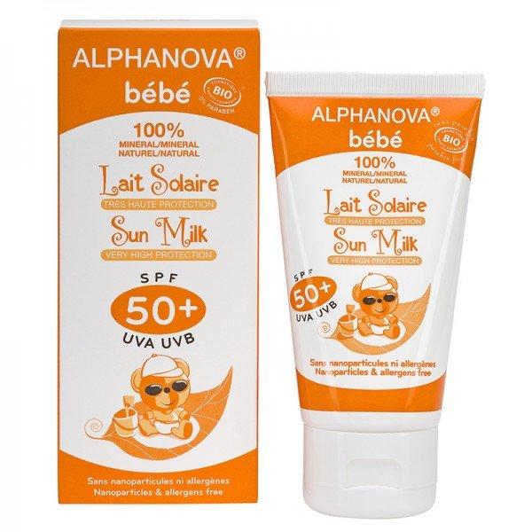 alphanova lait solaire solaire tr s haute protection spf 50 bio alphanova b b tube de 50 g. Black Bedroom Furniture Sets. Home Design Ideas