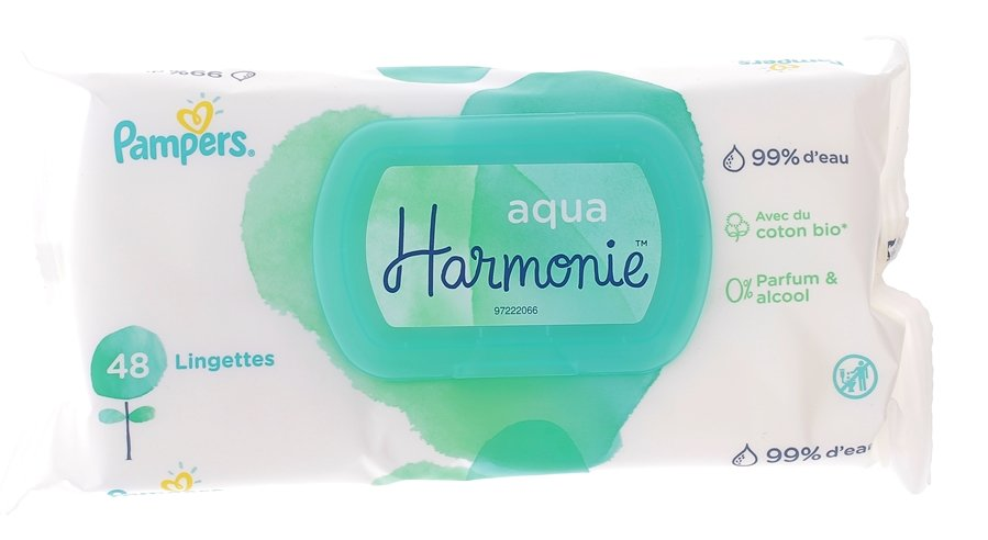 Pampers Aqua Harmonie Lingettes B/éb/é