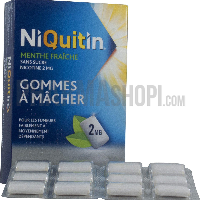 gomme a macher nicotine