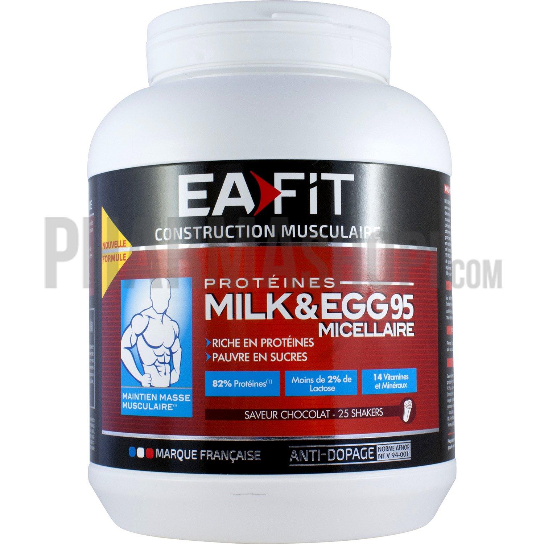 prot 233 ine milk egg 95 micellaire saveur chocolat pot de 750g