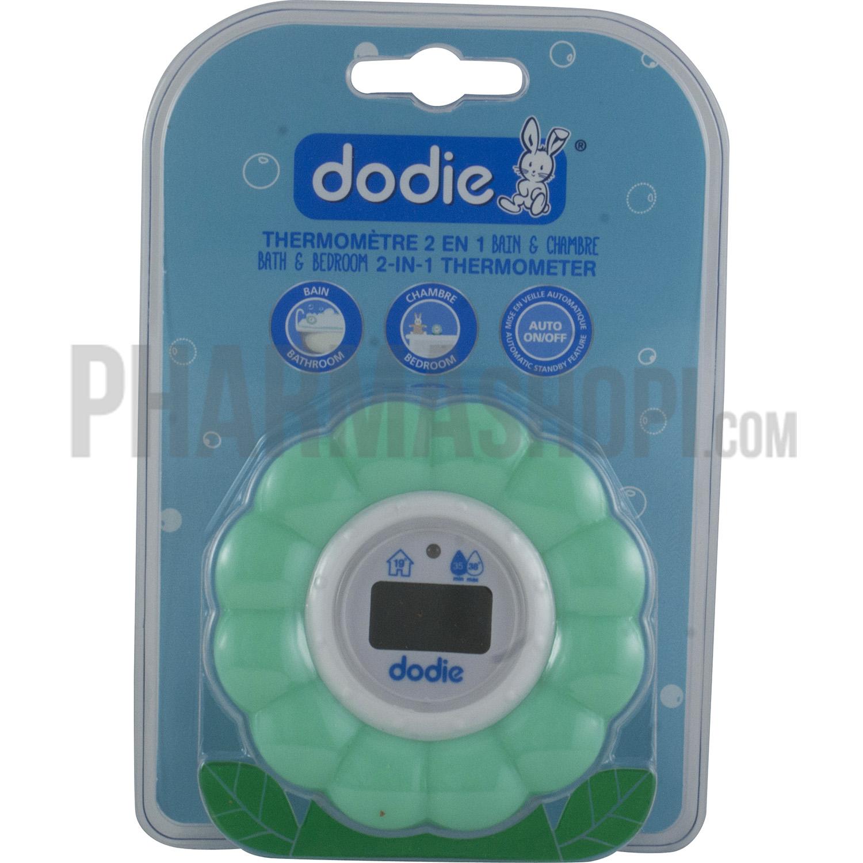 Dodie : thermomètre 2 en 1 bain et chambre dodie, un thermomètre