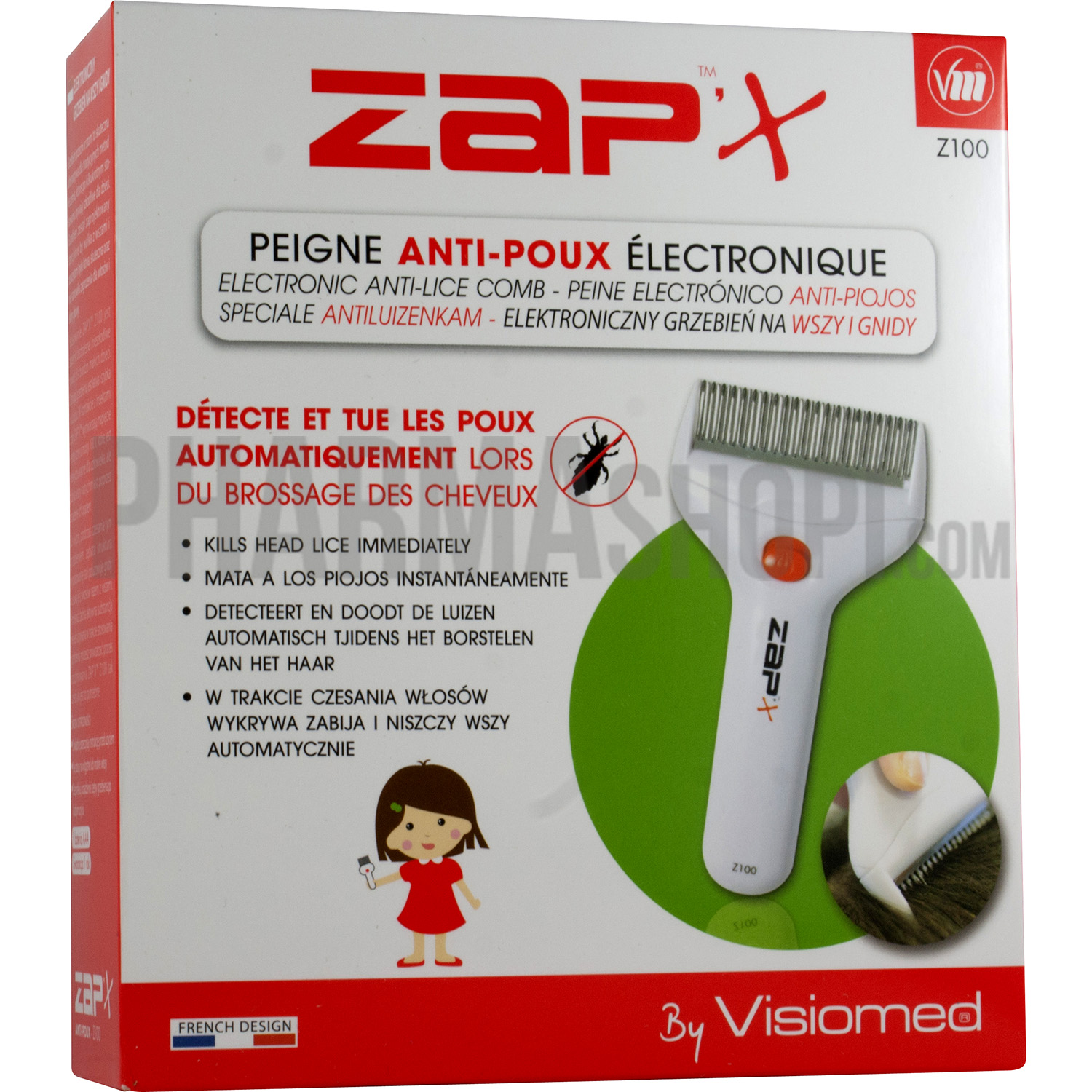 Zap X antipoux Electric Comb VISIOMED Christmas gift ideas b58bf150ddcf