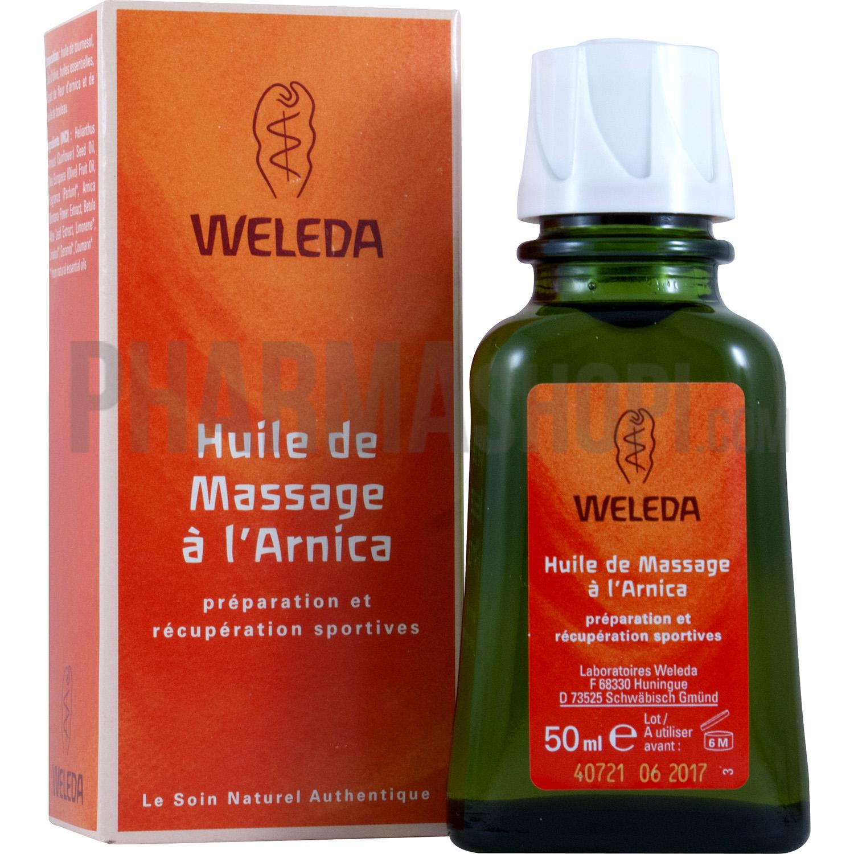 huile de massage l 39 arnica weleda flacon de 50 ml