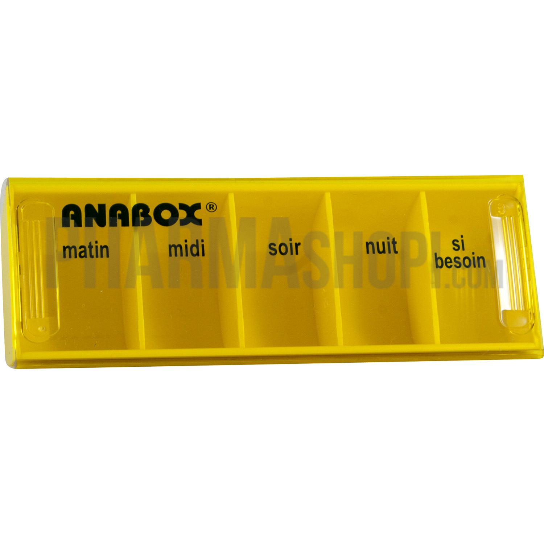 pilulier journalier jaune anabox 1 pilulier. Black Bedroom Furniture Sets. Home Design Ideas