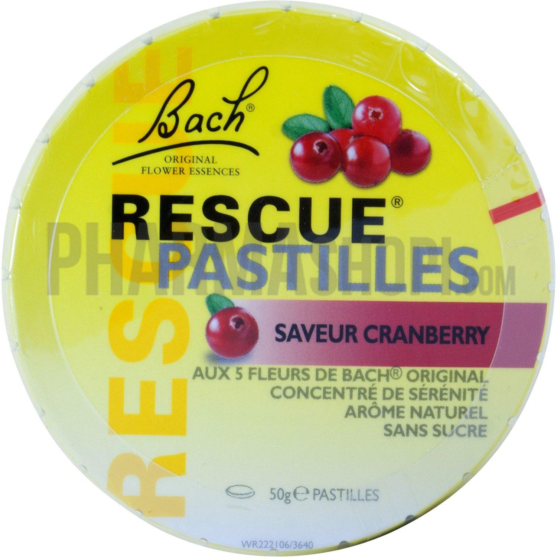Fleur De Bach Rescue Pastilles Saveur Cranberry Boite De 50 G