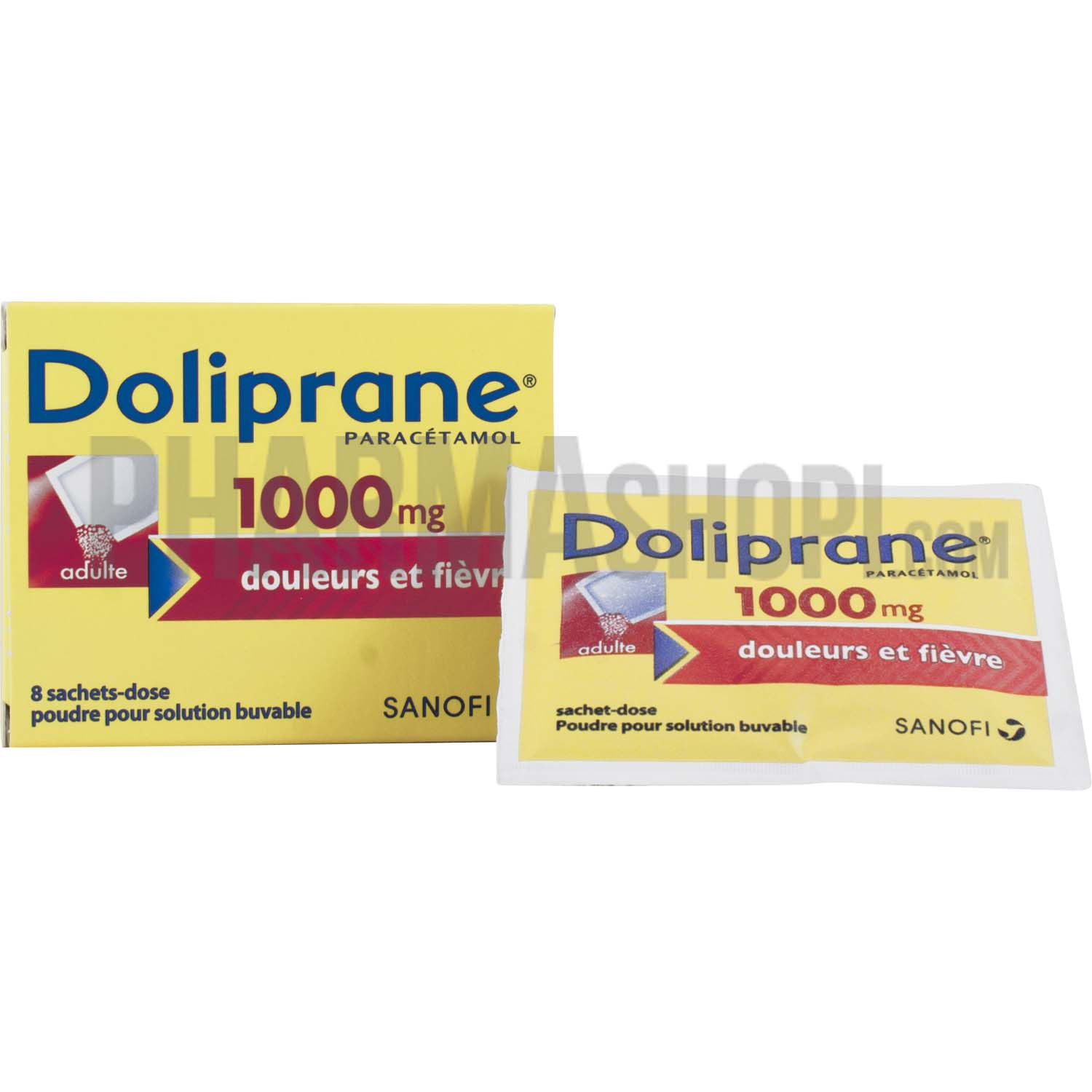 doliprane 1000mg poudre pour solution buvable 8 sachet doses. Black Bedroom Furniture Sets. Home Design Ideas
