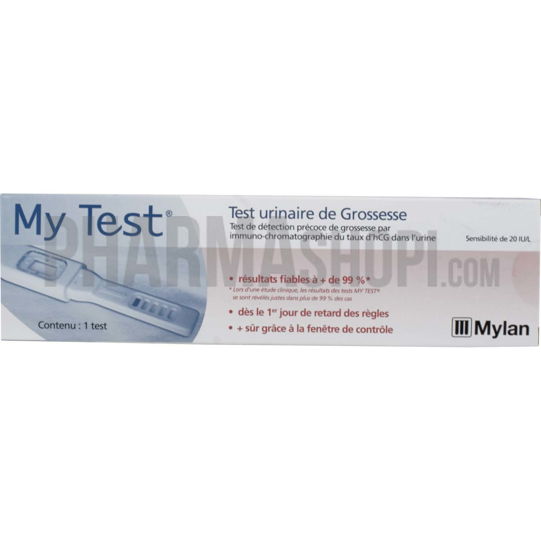 My Test Test Urinaire De Grossesse 1 Test