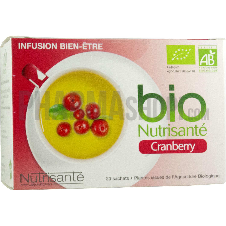 Infusion Cranberry BIO Nutrisanté : tisane infection urinaire