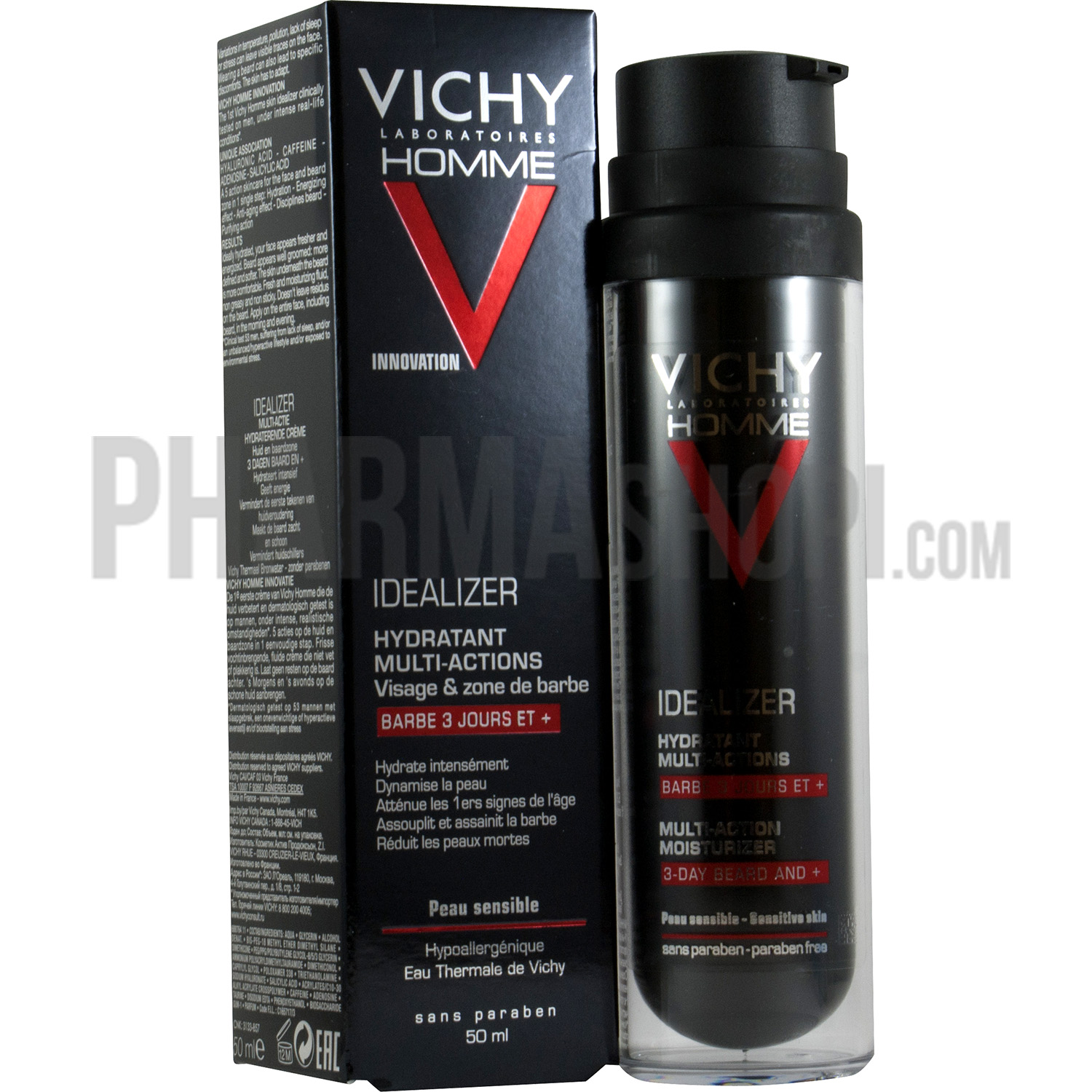 vichy id alizer hydratant multi actions barbe 3 jours et. Black Bedroom Furniture Sets. Home Design Ideas